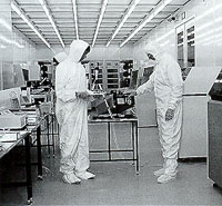 Particle counting in a cleanroom